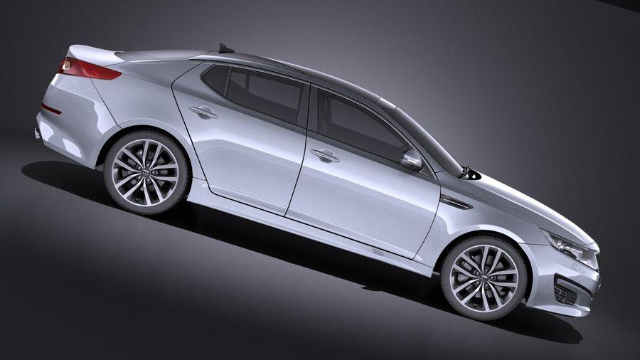 Kia Optima Sportpaket 2015 VRAY royalty-free 3d model - Preview no. 7