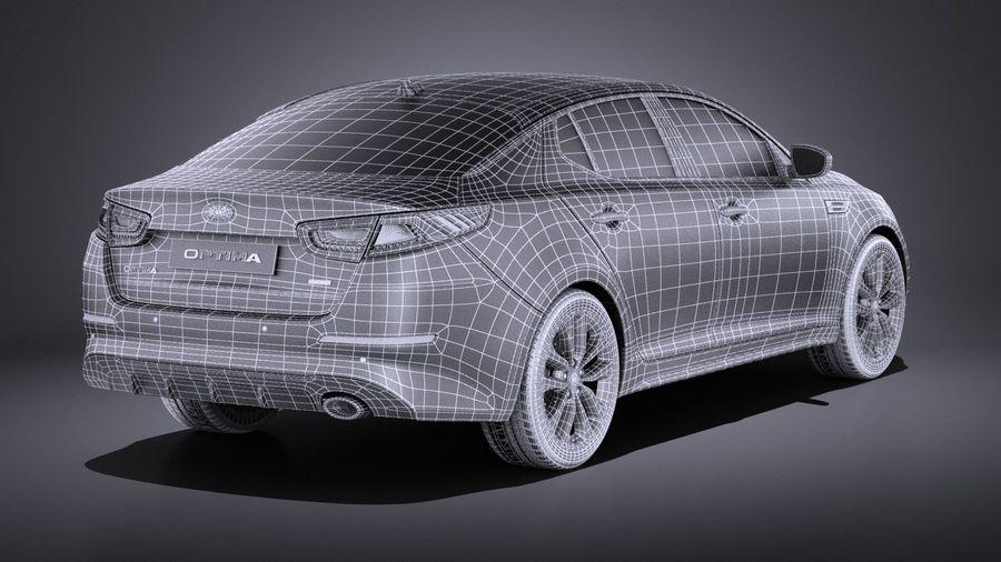 Kia Optima Sportpaket 2015 VRAY royalty-free 3d model - Preview no. 16