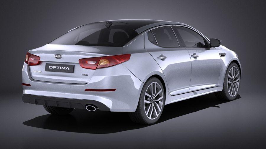 Kia Optima Sportpaket 2015 VRAY royalty-free 3d model - Preview no. 6