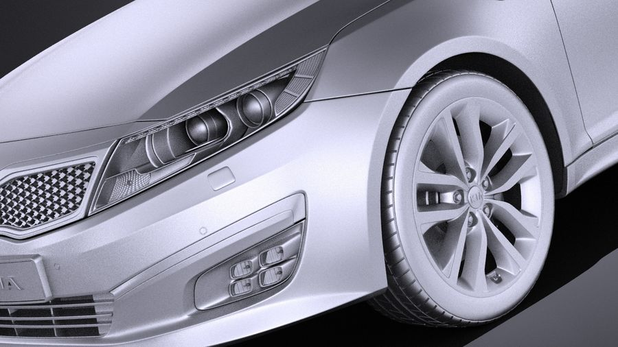 Kia Optima Sportpaket 2015 VRAY royalty-free 3d model - Preview no. 10