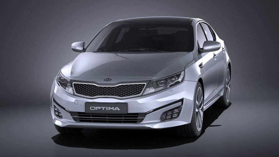 Kia Optima Sportpaket 2015 VRAY royalty-free 3d model - Preview no. 2