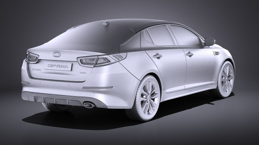 Kia Optima Sportpaket 2015 VRAY royalty-free 3d model - Preview no. 12