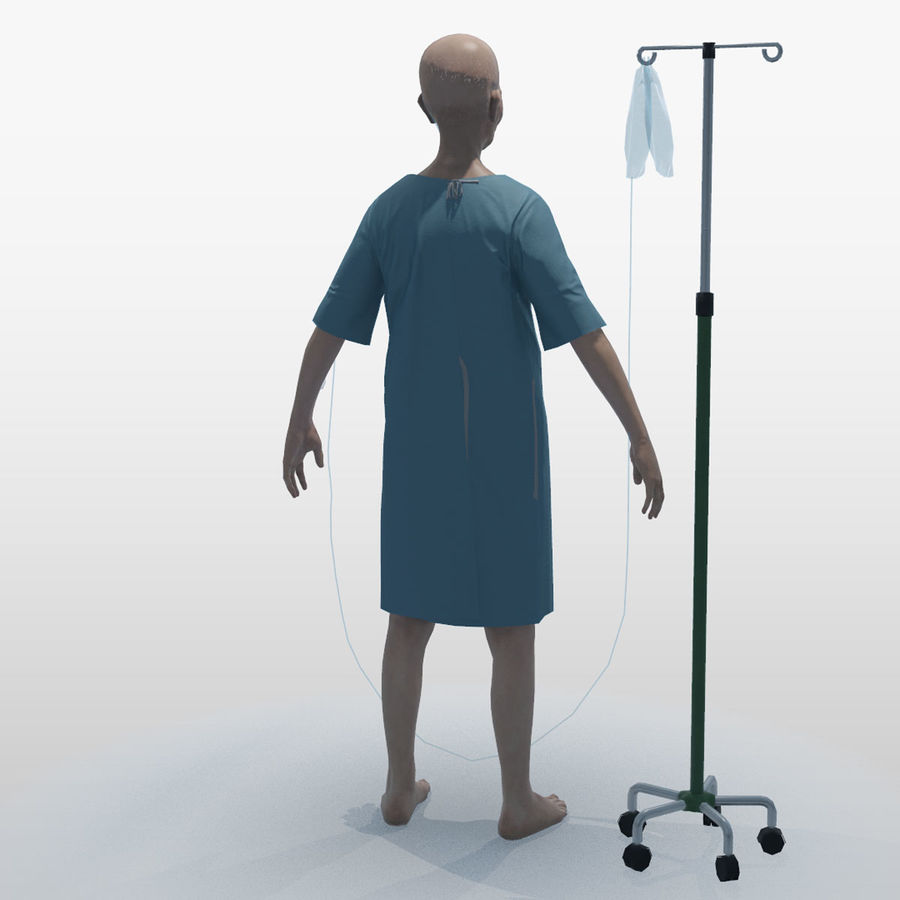 Пациент Старик полный проект royalty-free 3d model - Preview no. 4