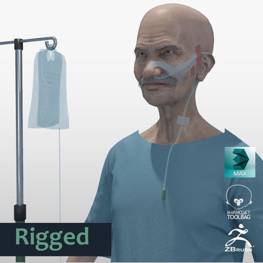 Пациент Старик полный проект royalty-free 3d model - Preview no. 1