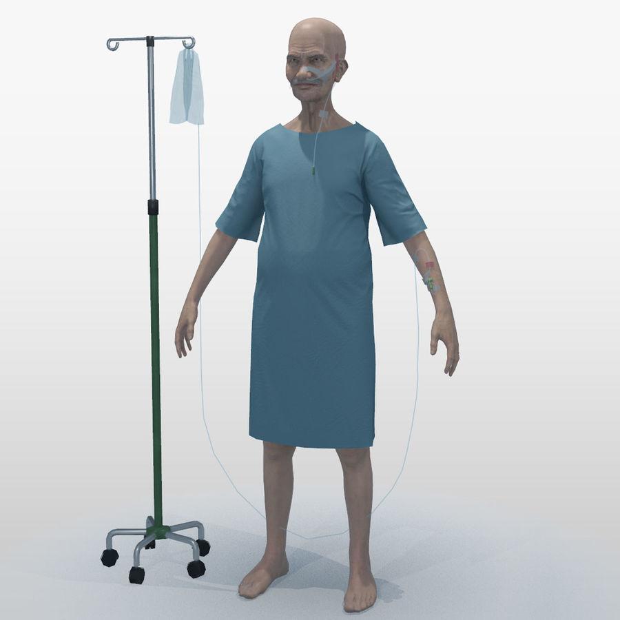Пациент Старик полный проект royalty-free 3d model - Preview no. 2