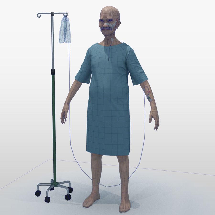 Пациент Старик полный проект royalty-free 3d model - Preview no. 3