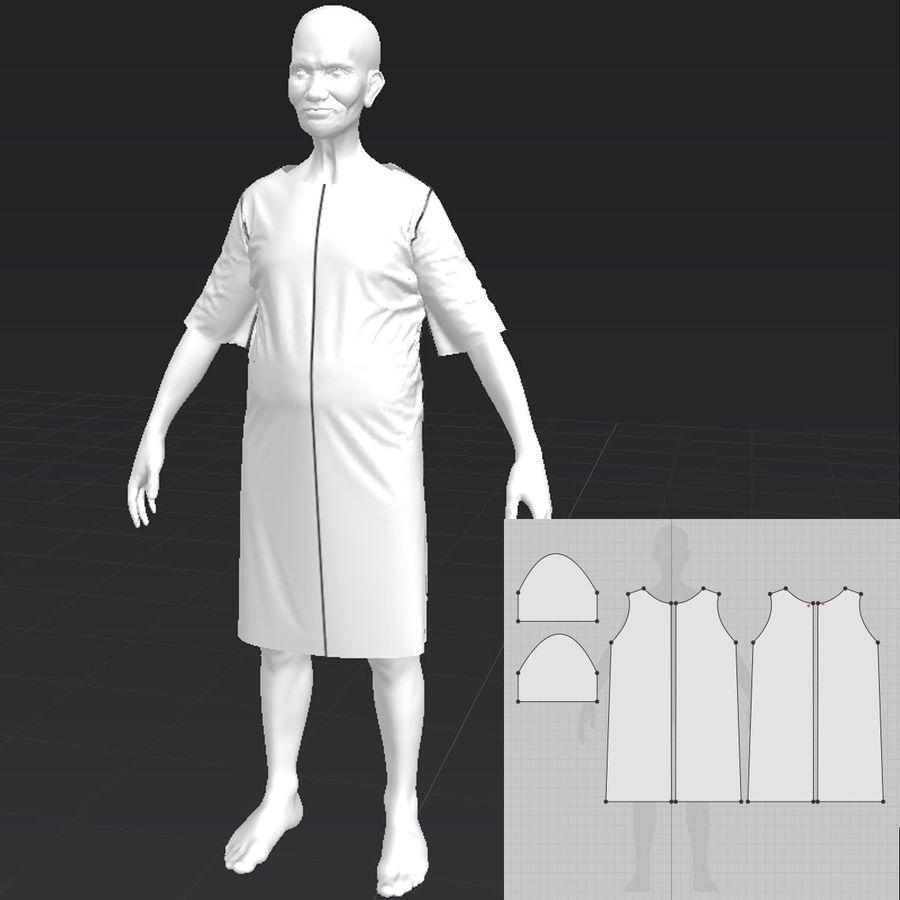Пациент Старик полный проект royalty-free 3d model - Preview no. 12