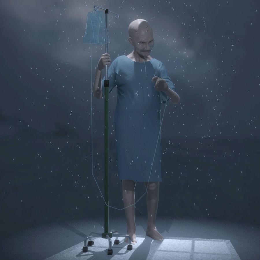 Пациент Старик полный проект royalty-free 3d model - Preview no. 6