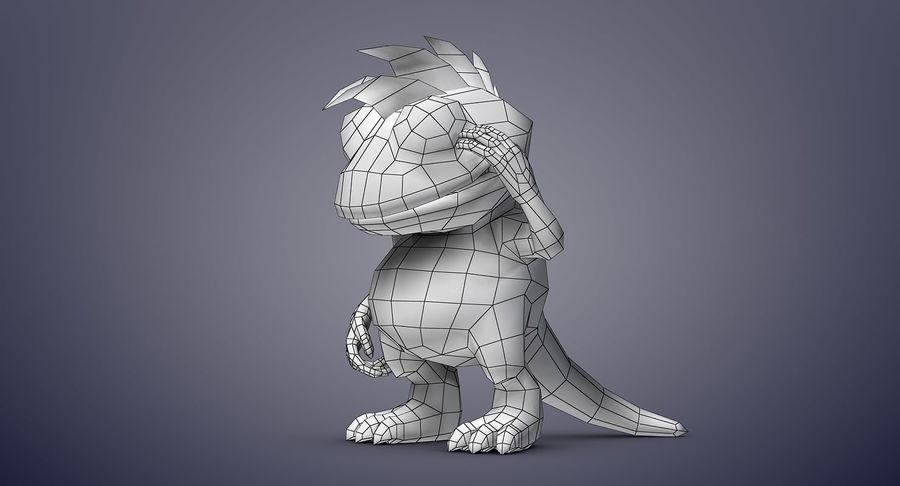 드래곤 (Rig) royalty-free 3d model - Preview no. 20