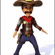 Cowboy Cartoon 3d model