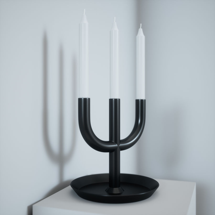 IKEA Enighet Candle Holder royalty-free 3d model - Preview no. 8