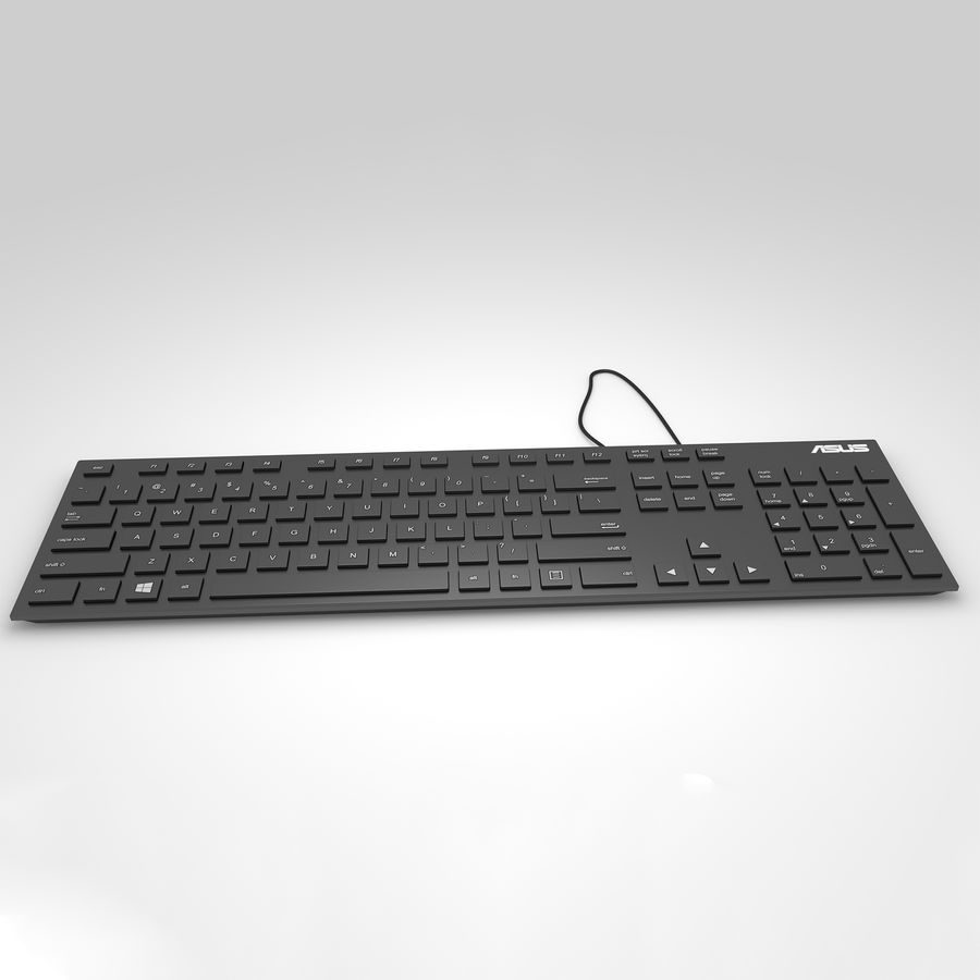 Tastiera del computer royalty-free 3d model - Preview no. 1