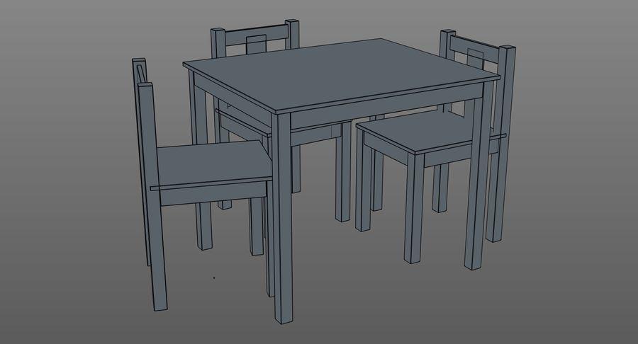 Mesa e cadeiras para crianças royalty-free 3d model - Preview no. 10