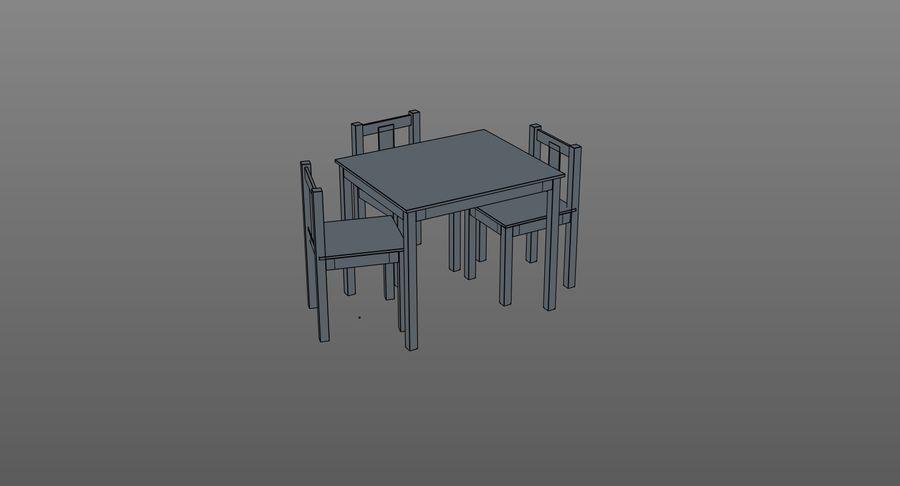 Mesa e cadeiras para crianças royalty-free 3d model - Preview no. 16
