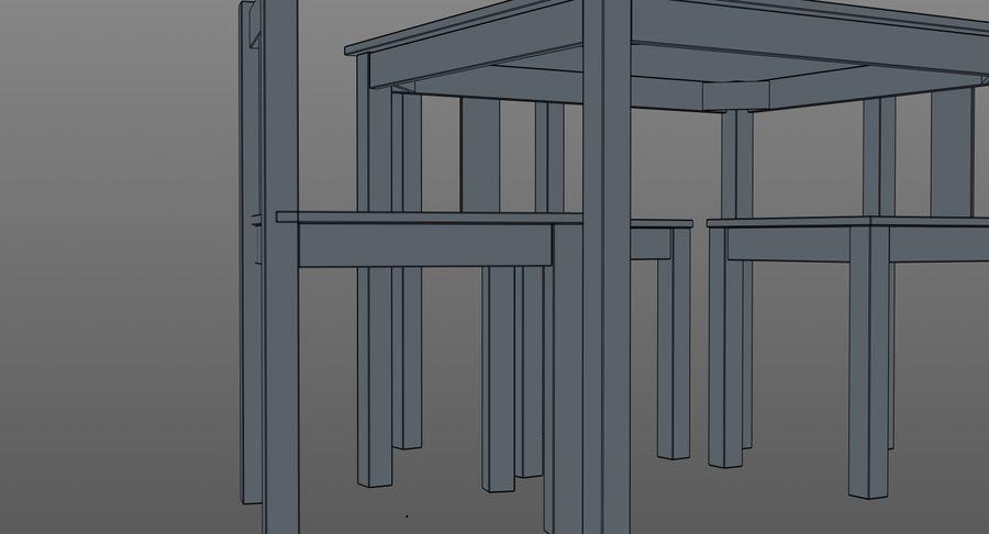 Mesa e cadeiras para crianças royalty-free 3d model - Preview no. 15