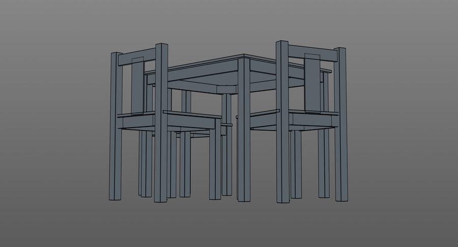 Mesa e cadeiras para crianças royalty-free 3d model - Preview no. 12