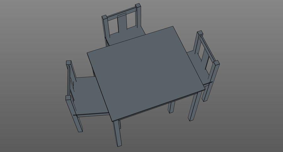 Mesa e cadeiras para crianças royalty-free 3d model - Preview no. 11