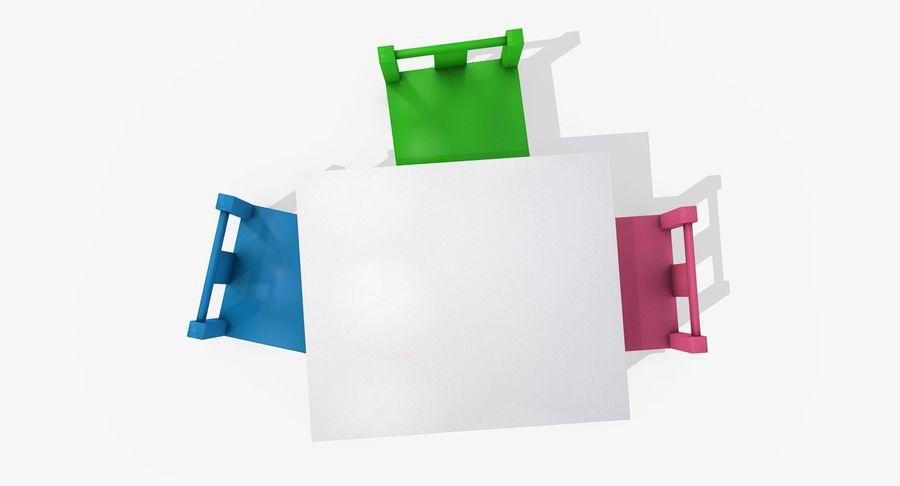 Mesa e cadeiras para crianças royalty-free 3d model - Preview no. 7