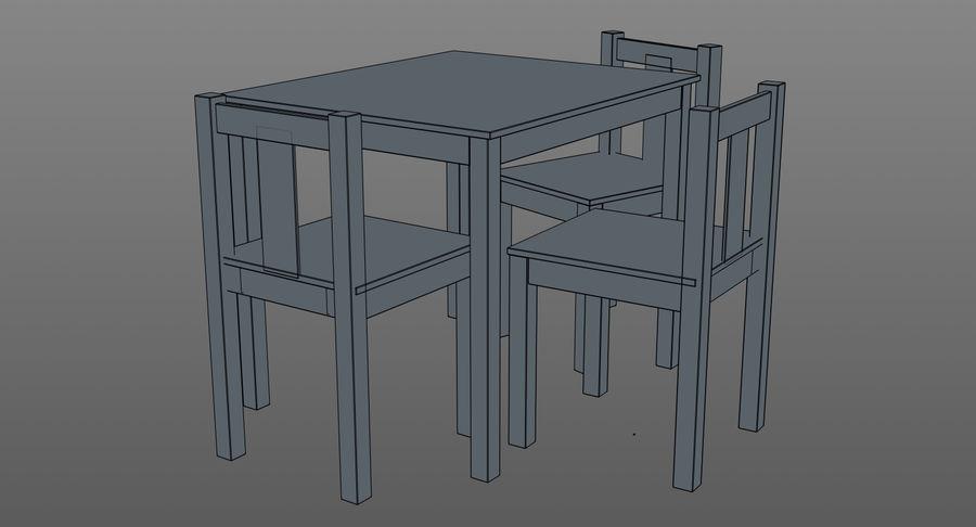 Mesa e cadeiras para crianças royalty-free 3d model - Preview no. 13
