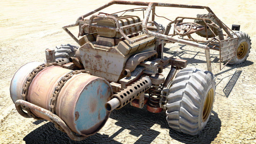 Mad MAX royalty-free 3d model - Preview no. 5