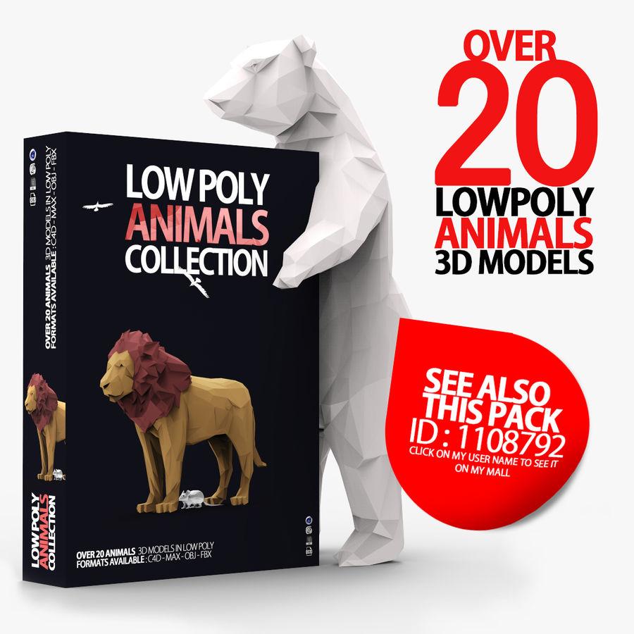 Słoń Low Poly Cartoon royalty-free 3d model - Preview no. 15