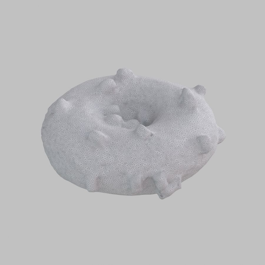 Marshmallow Donut royalty-free 3d model - Preview no. 9