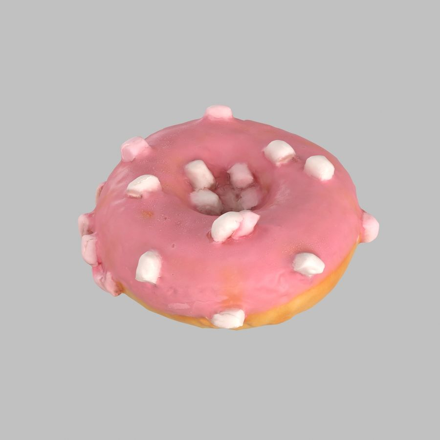 Marshmallow Donut royalty-free 3d model - Preview no. 1