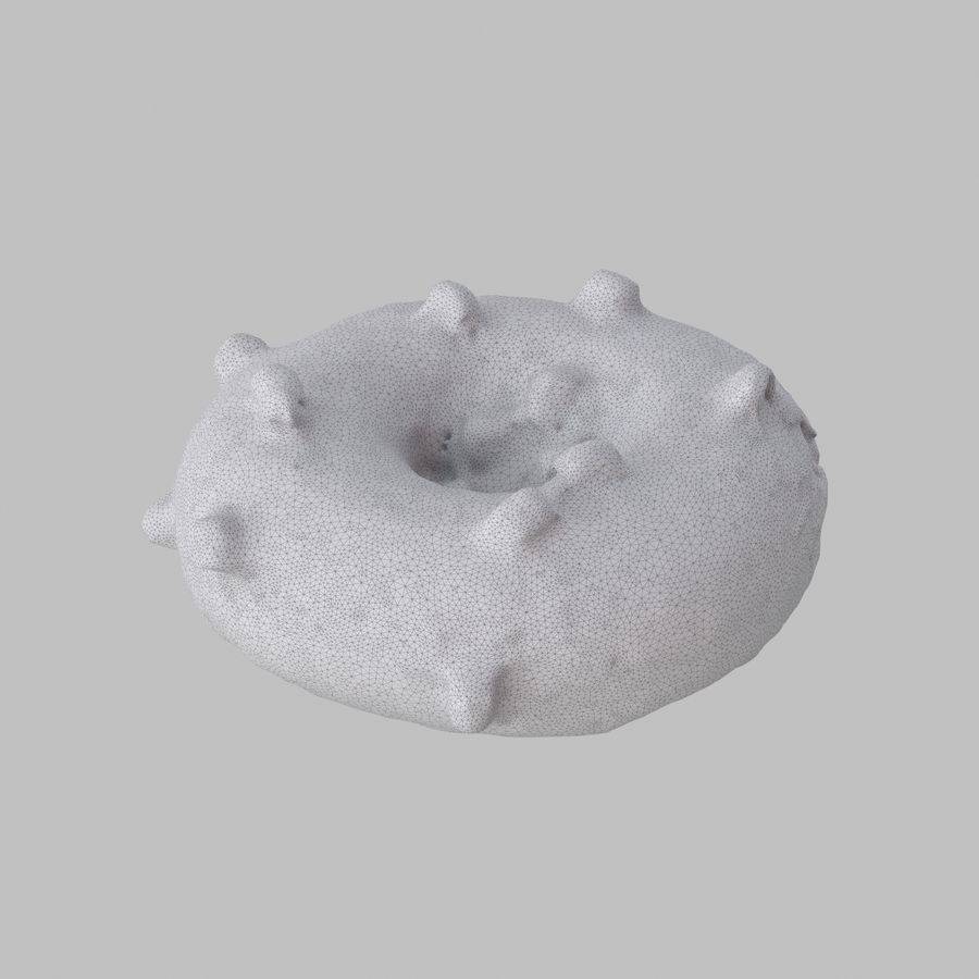 Marshmallow Donut royalty-free 3d model - Preview no. 7