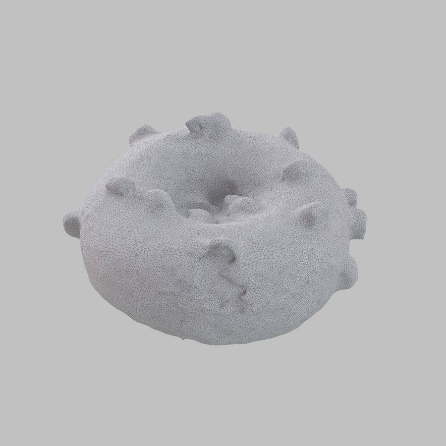Marshmallow Donut royalty-free 3d model - Preview no. 8