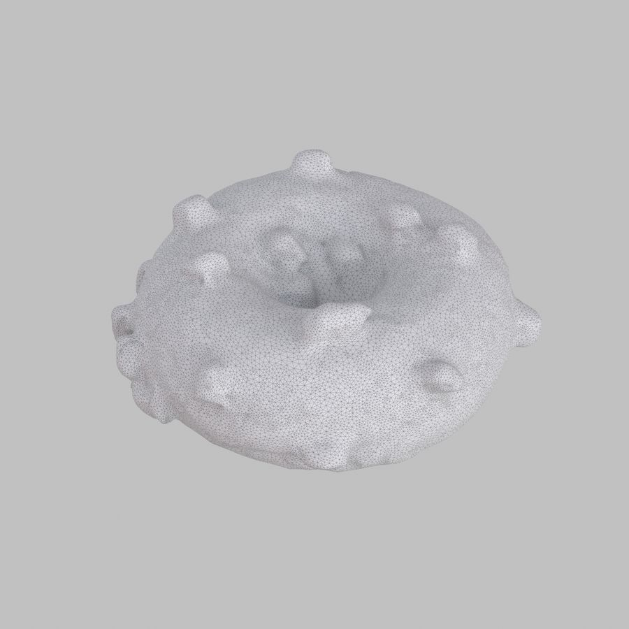 Marshmallow Donut royalty-free 3d model - Preview no. 6