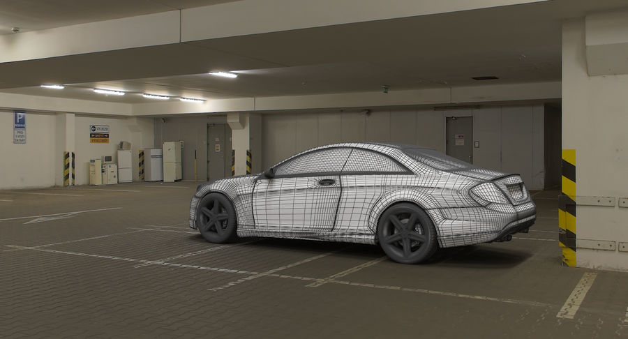 Mercedes Benz CL 65 royalty-free 3d model - Preview no. 6