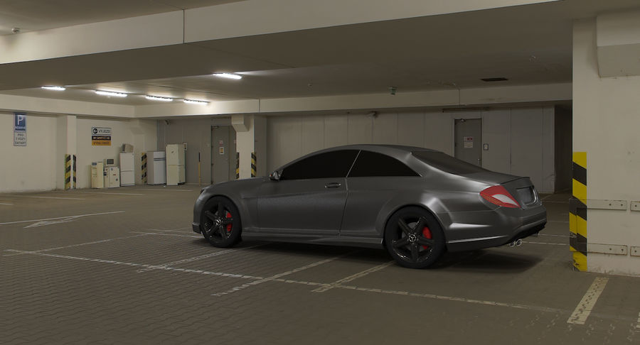 Mercedes Benz CL 65 royalty-free 3d model - Preview no. 5