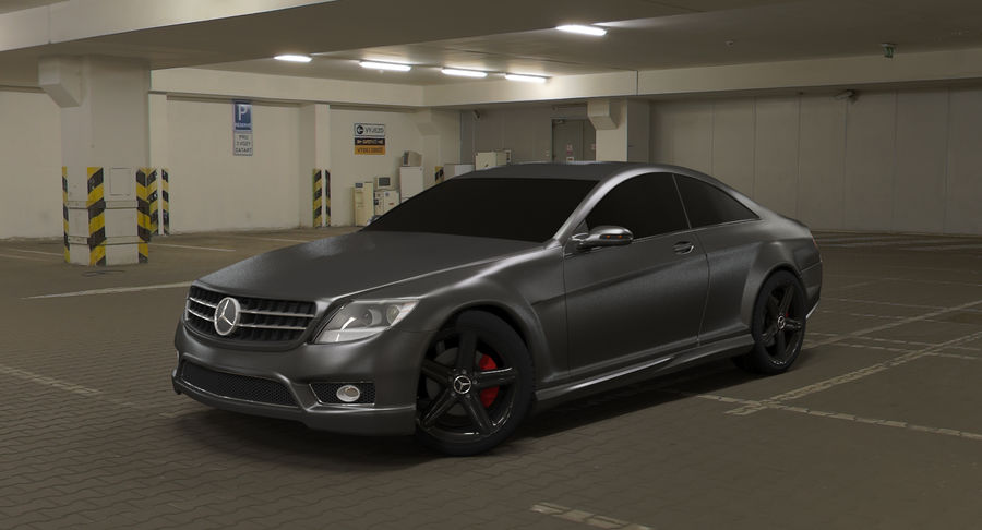 Mercedes Benz CL 65 royalty-free 3d model - Preview no. 2