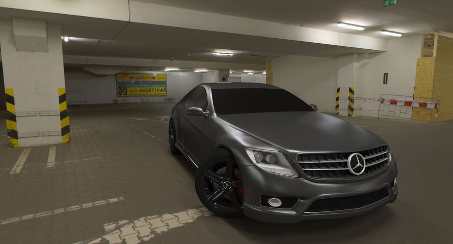 Mercedes Benz CL 65 royalty-free 3d model - Preview no. 3