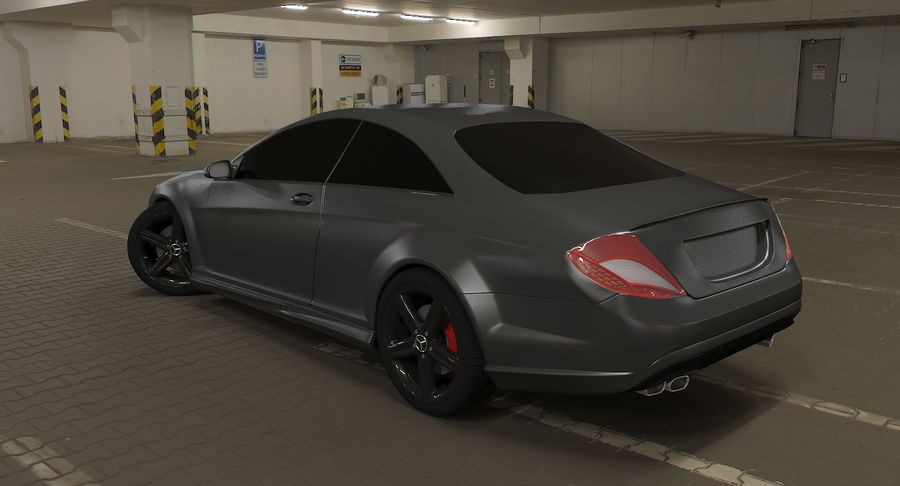 Mercedes Benz CL 65 royalty-free 3d model - Preview no. 10