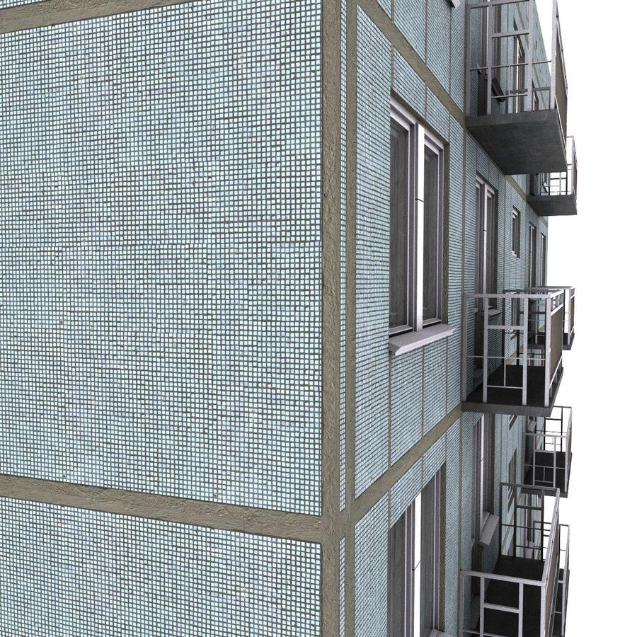 5 Katlı Rus Binası (KPD-4570-73 / 75) royalty-free 3d model - Preview no. 7