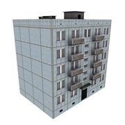 Edificio ruso de 5 pisos (KPD-4570-73 / 75) modelo 3d
