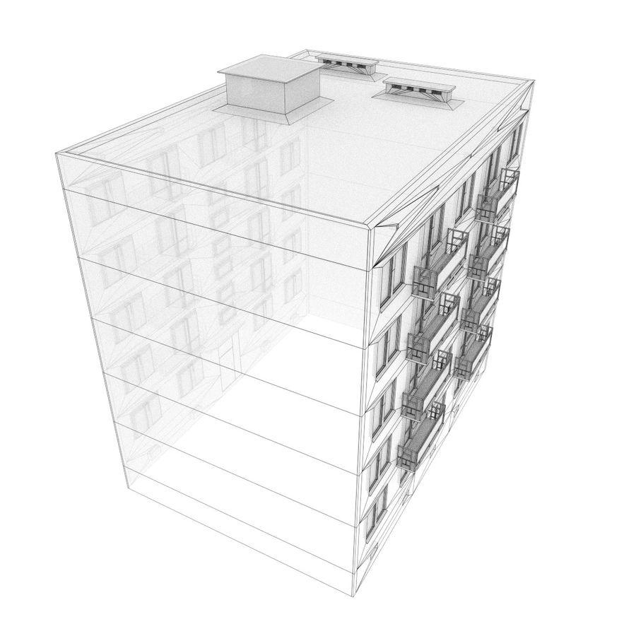 5 Katlı Rus Binası (KPD-4570-73 / 75) royalty-free 3d model - Preview no. 6