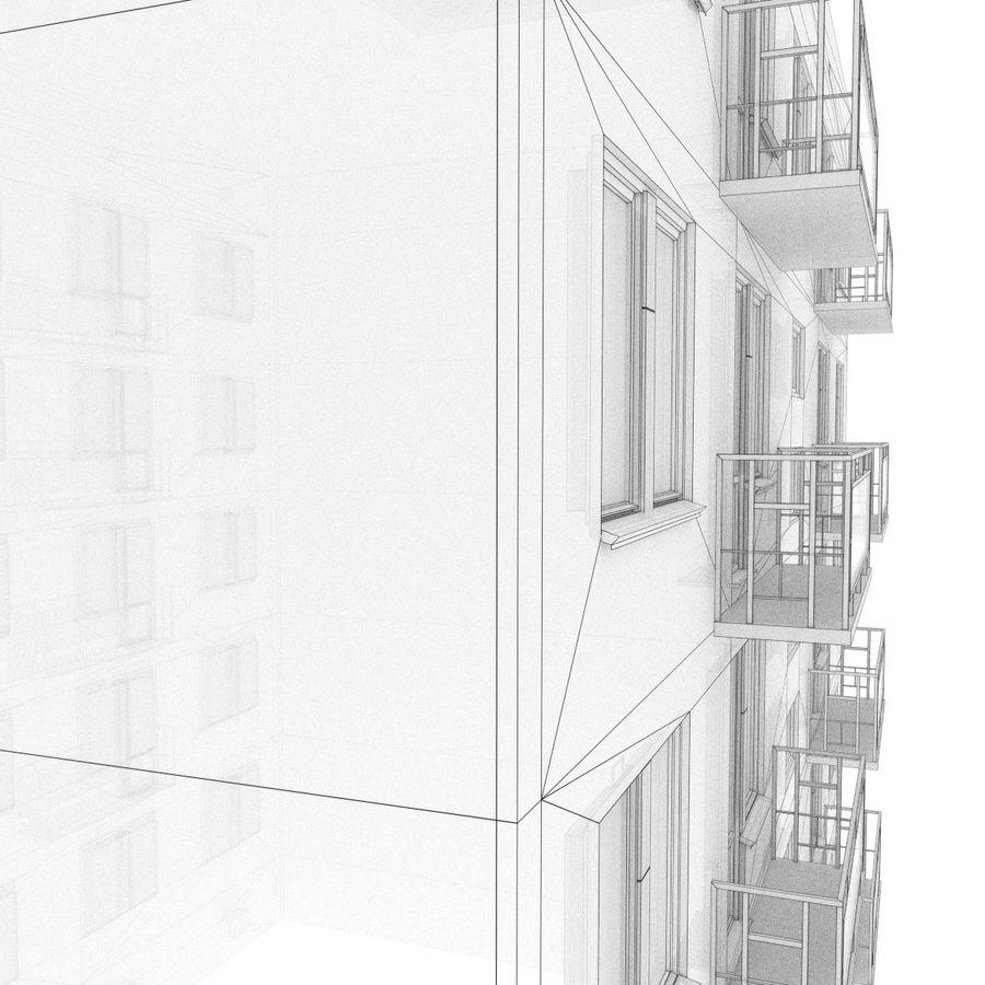 5 Katlı Rus Binası (KPD-4570-73 / 75) royalty-free 3d model - Preview no. 8