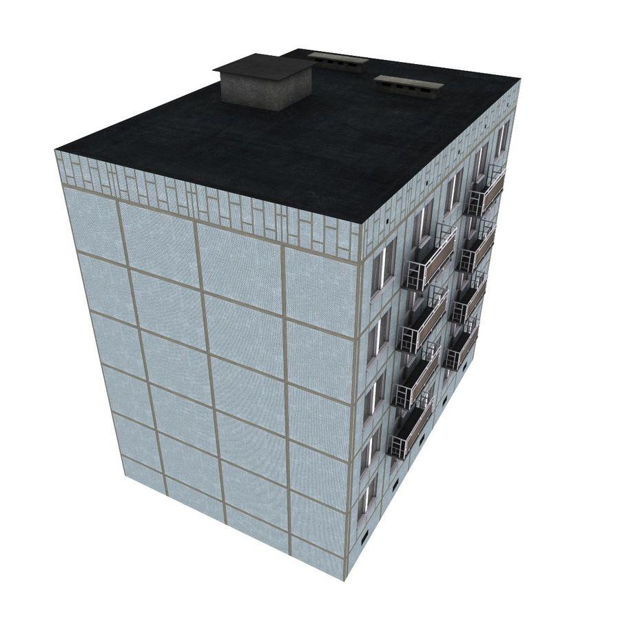 5 Katlı Rus Binası (KPD-4570-73 / 75) royalty-free 3d model - Preview no. 5