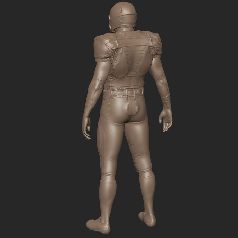 Football Player full Project royalty-free 3d model - Preview no. 11