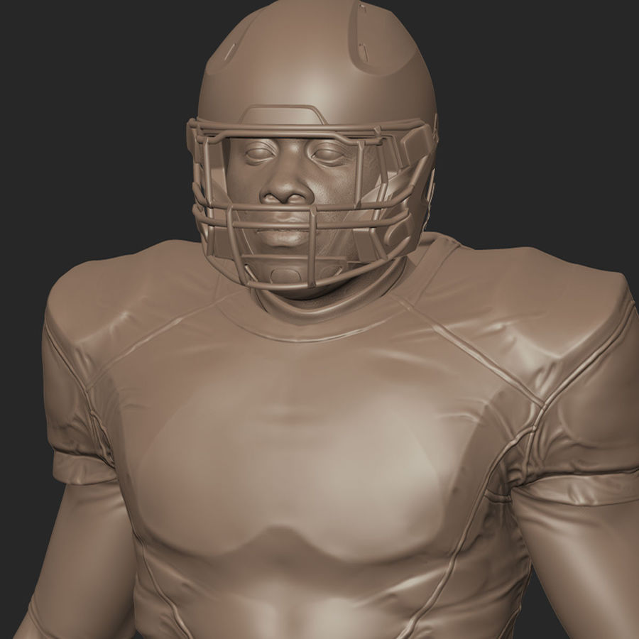 Football Player full Project royalty-free 3d model - Preview no. 9