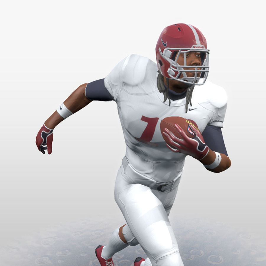 Football Player full Project royalty-free 3d model - Preview no. 15