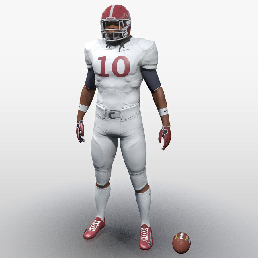 Football Player full Project royalty-free 3d model - Preview no. 2