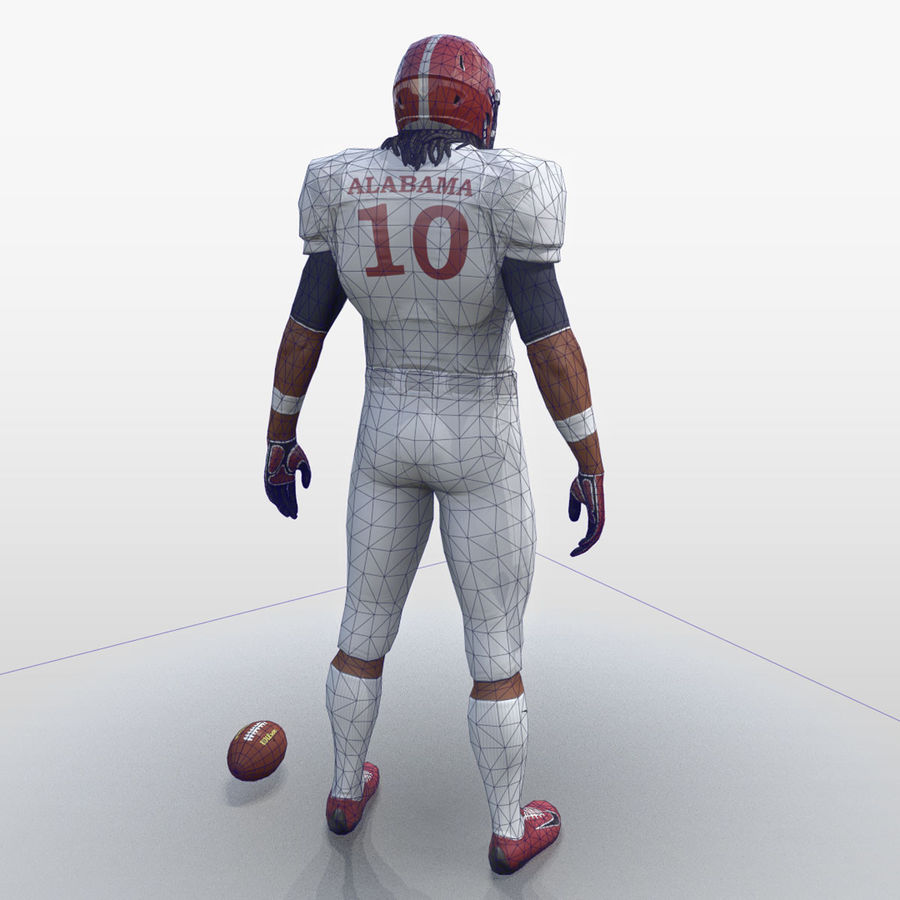 Football Player full Project royalty-free 3d model - Preview no. 5