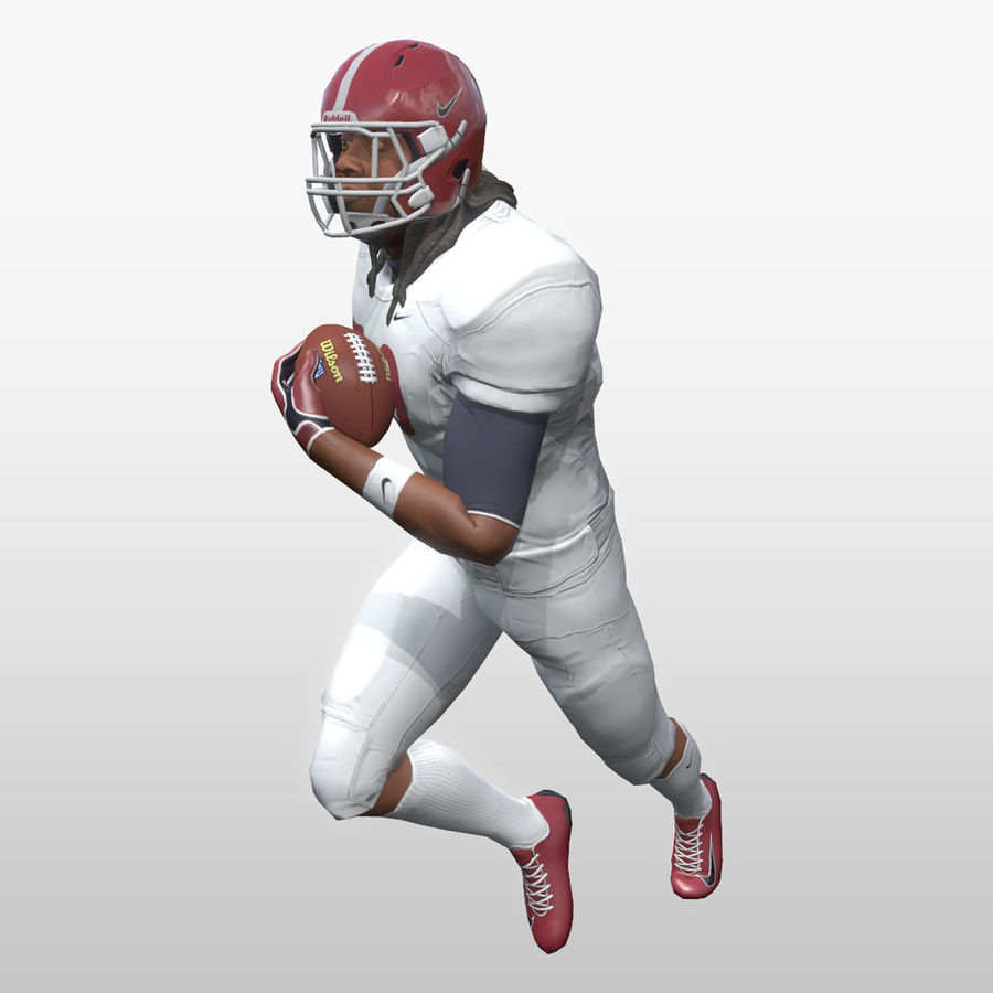 Football Player full Project royalty-free 3d model - Preview no. 12