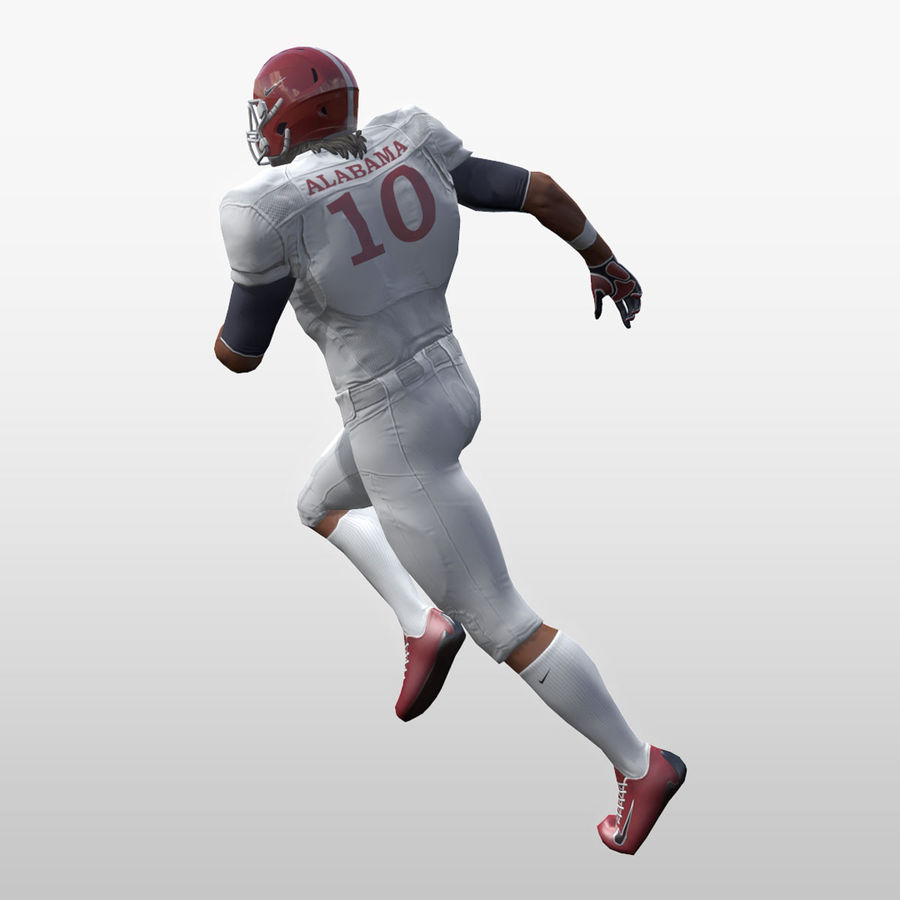 Football Player full Project royalty-free 3d model - Preview no. 13