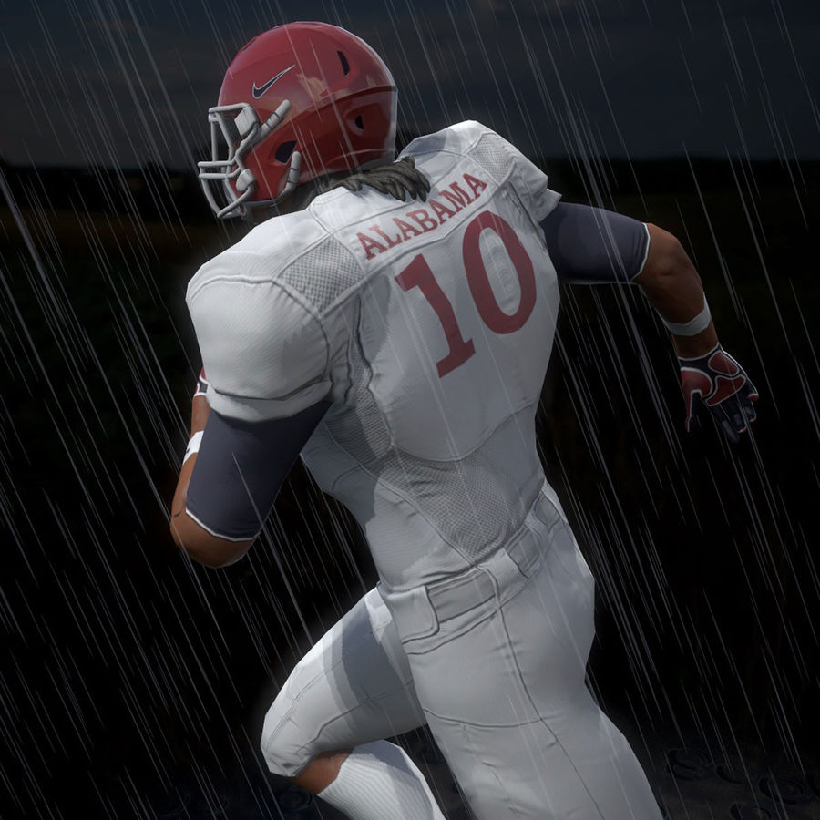 Football Player full Project royalty-free 3d model - Preview no. 6