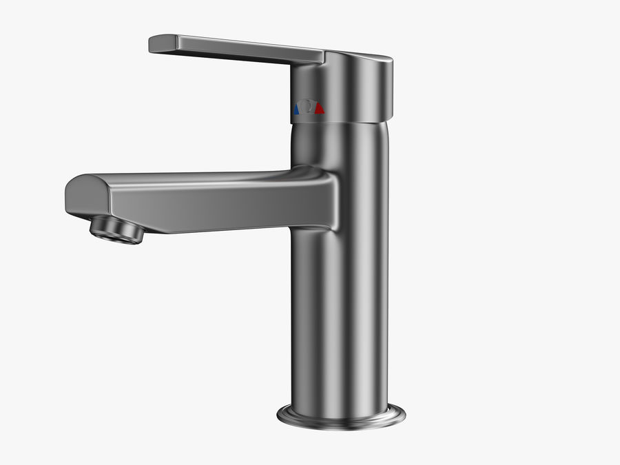 Bathroom Faucet royalty-free 3d model - Preview no. 2