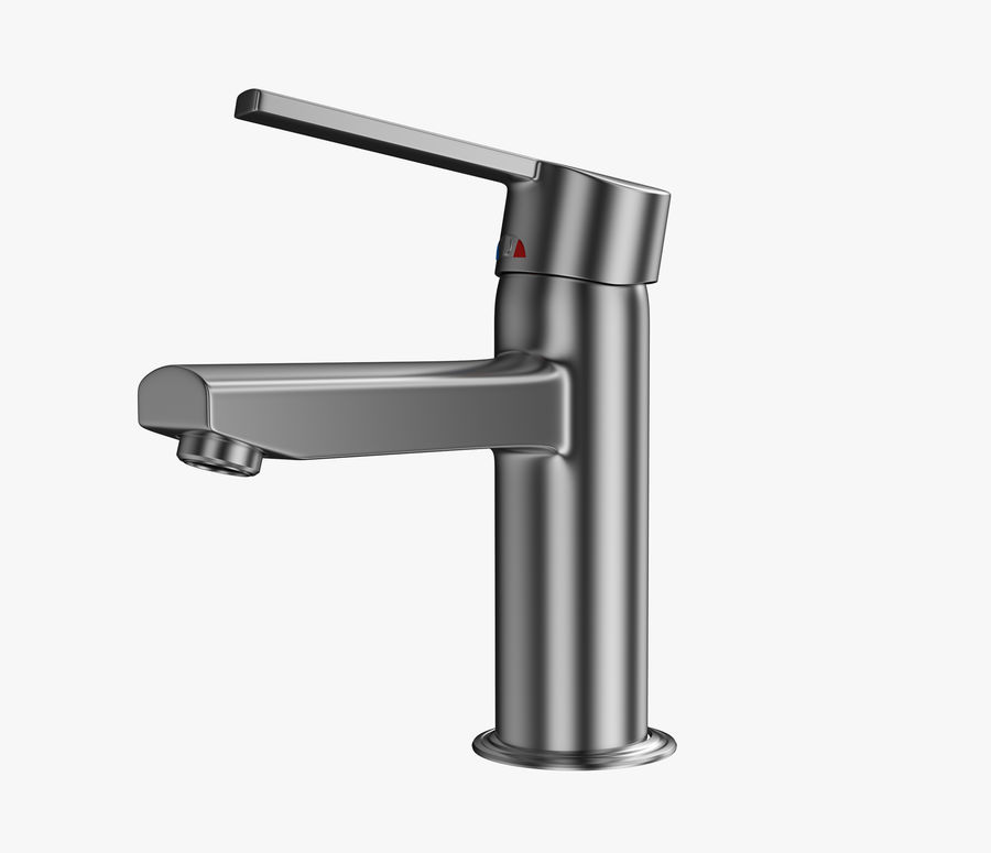 Bathroom Faucet royalty-free 3d model - Preview no. 5